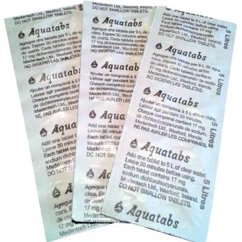 Дезинфицирующие таблетки Акватабс (блистер 3,5 мг) купить в Москве