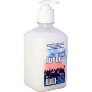 Антимикробное крем-мыло Чистый город 500 мл