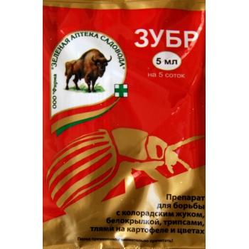 Инсектицид Зубр для защиты картофеля и цветов (5 мл): купить в Москве и Санкт-Петербурге