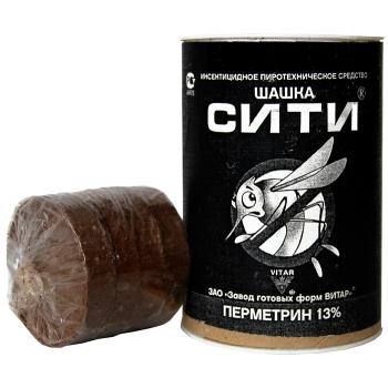 Инсектицидная дымовая шашка Сити (50 гр): купить в Москве, СПб и Нижнем Новгороде