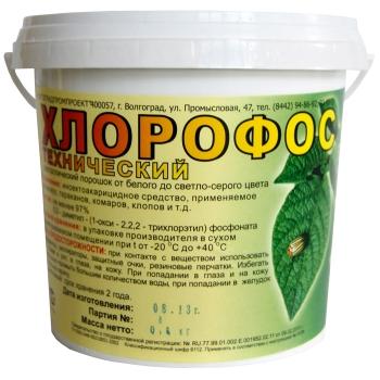 Инсектицидный порошок Хлорофос (800 гр) купить отзывы аналоги цена москва 
