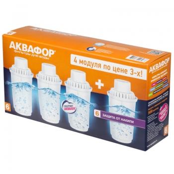 Кассета для воды АКВАФОР В-100-6 (комплект 4 штуки) купить