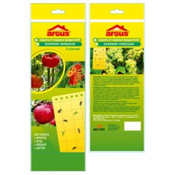 Аргус клеевая ловушка для защиты от садовых вредителей (5 шт): купить в Москве и СПб