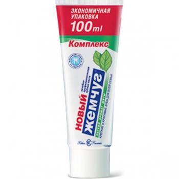 Невская косметика Зубная паста Новый Жемчуг 100 мл. КОМПЛЕКС легкая мята (зеленая) купить