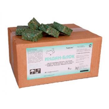 Индан-блок парафиновые брикеты для уничтожения грызунов (6 кг): купить в Москве и СПб