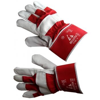 Перчатки Americano кожа-парусина