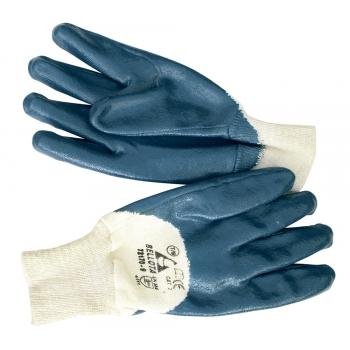 Перчатки голубой нитрил