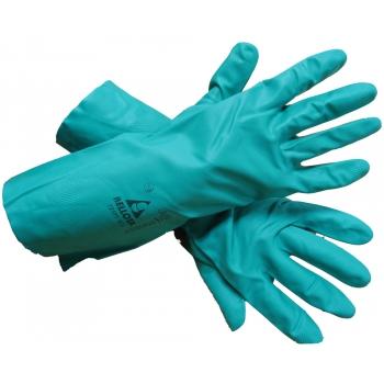 Перчатки химостойкие из нитрила (зеленые) купить