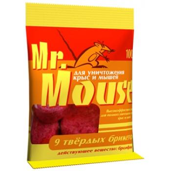 Мистер Маус парафинированный брикет от грызунов (100 гр): купить в Москве и СПб