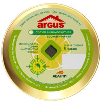 Аргус свеча антимоскитная ароматичская: купить в Москве и СПб