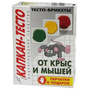 Капкан-Тесто паста для уничтожения грызунов (100 гр): купить в Москве и СПб