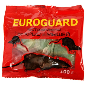 Еврогард тесто-сырный препарат от крыс (100 гр): купить в Москве и Санкт-Петербурге