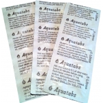 Дезинфицирующие таблетки Акватабс (блистер 17 мг)