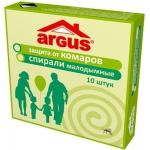 Спирали от комаров Аргус, малодымные (10 шт): купить в Москве и Санкт-Петербурге