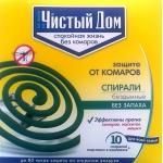 Чистый Дом cпирали от комаров (10 шт): купить в Москве и Санкт-Петербурге